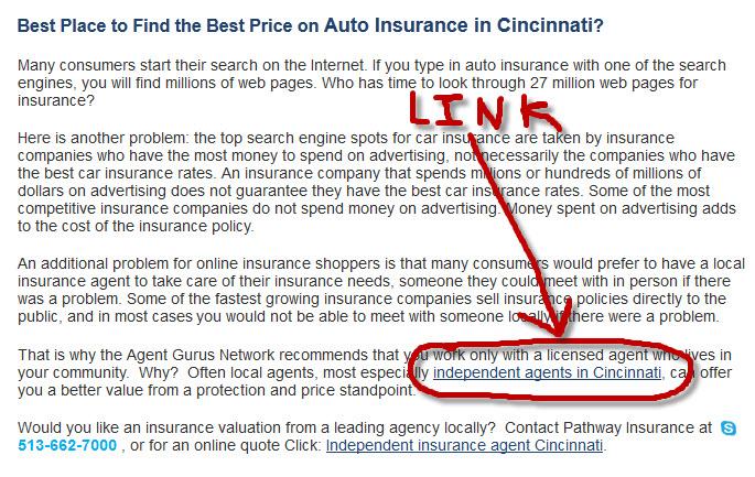 Insurance Backlink